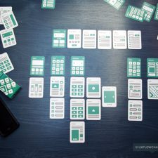 UX Flowchart Cards Scheme Example